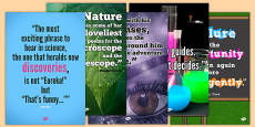 Science Quotes Motivational Display Poster Pack
