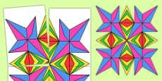 Large Cut-Out Rangoli Pattern Template