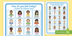 * NEW * How Do You Feel Today? Emotions Chart A4 Display Poster English/Spanish