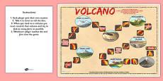 North American Volcanoes Board Game