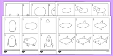 How to Draw Mixed Activity Sheet Pack