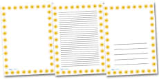 Smiley Sun Portrait Page Borders