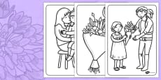 Australia - Mother's Day Colouring Sheets