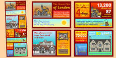 Great Fire of London Infographic Poster