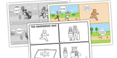 The Gingerbread Man Story Sequencing Cards with Speech Bubbles