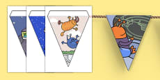 Display Bunting to Support Teaching on Aliens Love Underpants