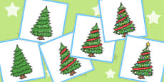 6 Step Sequencing Cards: Christmas Tree