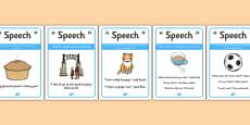 Writing Speech Display Posters