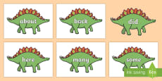 KS1 Keywords on Dinosaurs