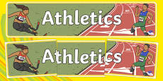 The Paralympic Events Athletics Display Banner