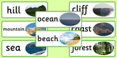 Human Geography Word Cards Natural