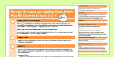 Parent Guidance for Spelling in Year 3-4