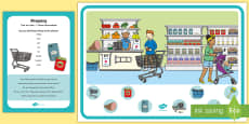 * NEW * Shopping Can You Find...? Poster and Prompt Card Pack