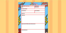 Superhero Themed Adult Led Focus Planning Activity