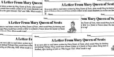 A Letter From Mary Queen of Scots Writing Frames