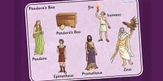 Pandora's Box Ancient Greek Myth Word Mat