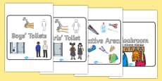 Editable Square Classroom Area Signs