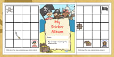 Sticker Reward Album (Pirate Themed)