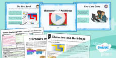 Computing: Scratch: Characters and Backdrops Year 5 Lesson Pack 2