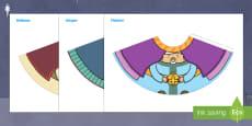 Muñecas de conos: Recorta y monta a los Reyes Magos