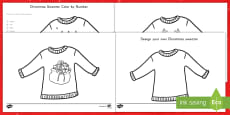 * NEW * Christmas Sweater Activity Pack