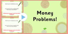 Money Problems Differentiated Lesson Teaching PowerPoint