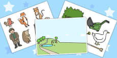 Story Cut Outs to Support Teaching on Percy The Park Keeper