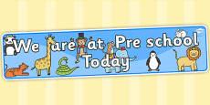 Self Registration Banner Animals Pre School