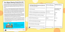 Yom Kippur Reading Comprehension Activity