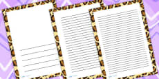 Leopard Print Page Borders