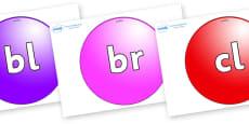 Initial Letter Blends on Spheres