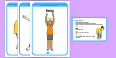 Foundation PE (Reception) Body Shapes Cool-Down Activity Card