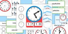 Telling The Time Lapbook Creation Pack Polish