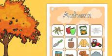 Australia - Autumn Vocabulary Poster Mat