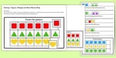 Workstation Pack: Shape Sequence Match Activities Set 2