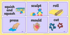Malleable Area Word Display Posters