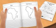 What a Wonderful World My Seven Continents Mini Book Template