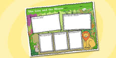 The Lion and the Mouse Story Review Writing Frame