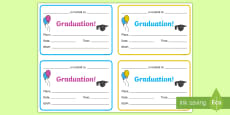 Graduation Invitation Writing Template