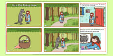 Little Red Riding Hood Story Cards (4 per A4)