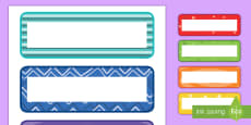 Multicolor Pattern Editable Drawer, Peg, Name Labels