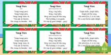 Tangi pere Jingle Bells Song Te Reo Maori
