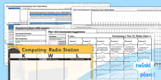 Computing: Radio Station Year 5 Unit Assessment Pack