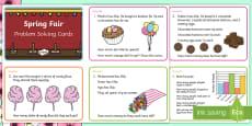 Spring Maths Challenge Cards