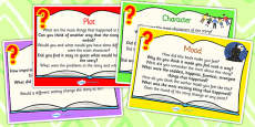 Reading Response Question Prompt Cards