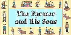 The Farmer and His Sons Display Borders