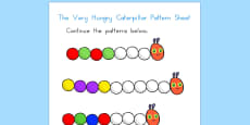Pattern Sheet to Support Teaching on The Very Hungry Caterpillar