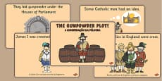 The Gunpowder Plot Story Sequencing Portuguese Translation
