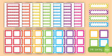* NEW * Multicoloured Polka Dot Editable Drawer and Peg Labels Resource Pack
