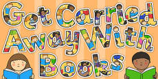 Get Carried Away with Books Display Lettering